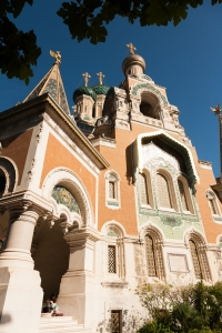 The russian orthodox cathedral in Nice.