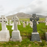 These graves face the sea
