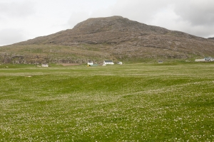 View of early Machair from Barra cemetery