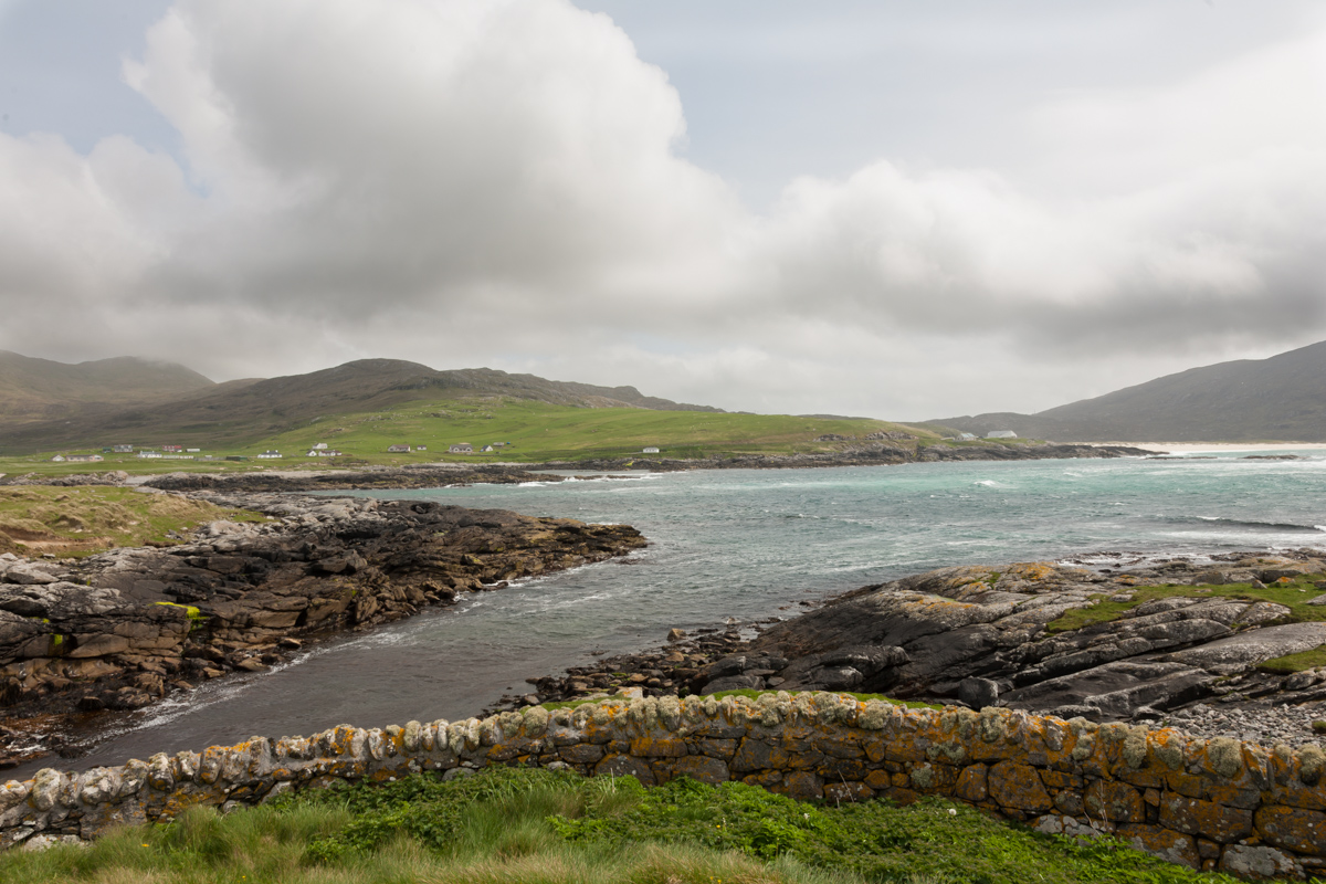 View out to sea from Barra cemetery