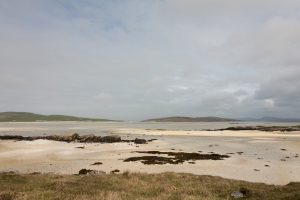 This is a view of Barra Beach looking across the sand at low tide.