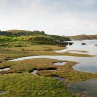 Ruined village on Barra – These buildings were emptied by Colonel John Gordon of Cluny